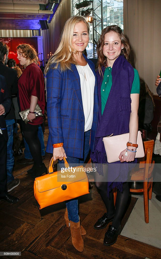 Judith Hoersch and Sandra von Ruffin attend the Blaue Blume Awards 2016 on February 10, 2016 in Berlin, Germany.