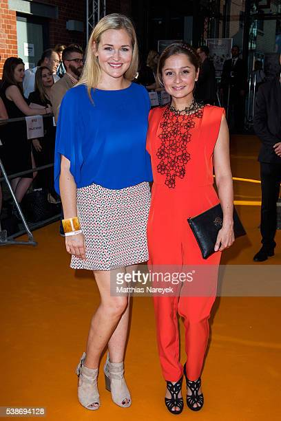 Judith Hoersch and Sarah Alles during the 'Orange is the New Black' Europe Premiere at Kino in der Kulturbrauerei on June 7 2016 in Berlin Germany