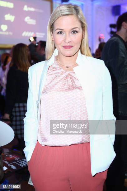 Judith Hoersch attends the Blaue Blume Awards 2017 at Sony Center on February 8 2017 in Berlin Germany