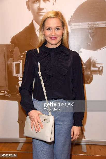 Judith Hoersch attends the opening recipience of the german film and TVproducer alliance to the 67 Berlinale International Film Festival on the...