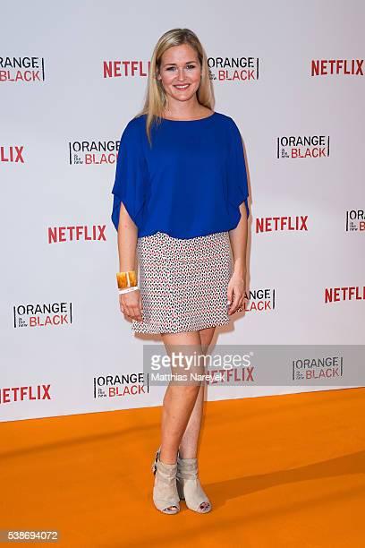 Judith Hoersch during the 'Orange is the New Black' Europe Premiere at Kino in der Kulturbrauerei on June 7 2016 in Berlin Germany