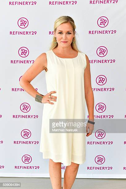 Judith Hoersch during the Refinery29 Sunset Cocktail Party on June 9 2016 in Berlin Germany