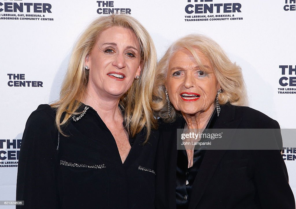 Judith Kasen-Windsor and Edie Windsor attend 2016 women's event honoring Debi Mazar at Capitale on November 5, 2016 in New York City.