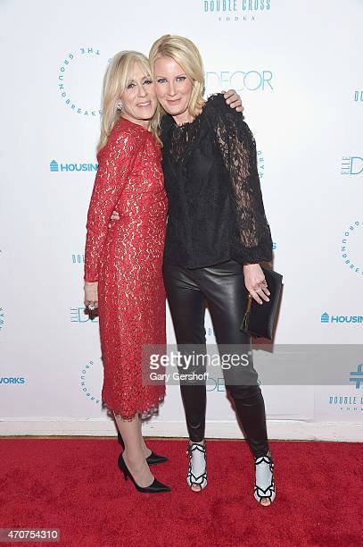 Judith Light and honoree Sandra Lee attend the 2015 Housing Works Groundbreaker Awards at Metropolitan Pavilion on April 22 2015 in New York City