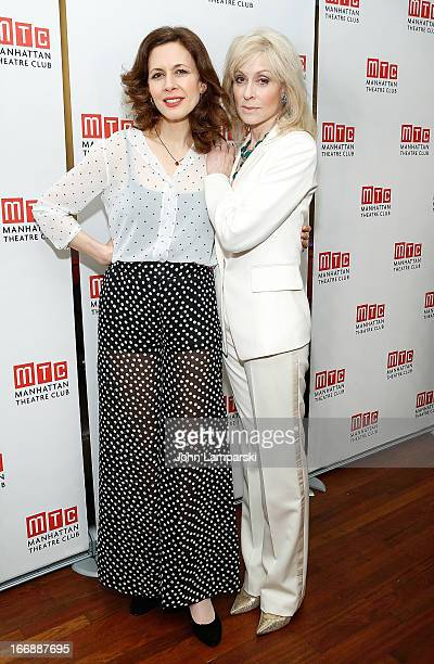 Judith Light and Jessica Hecht attend 'The Assembled Parties' Broadway Opening Night after party at the Copacabana on April 17 2013 in New York City