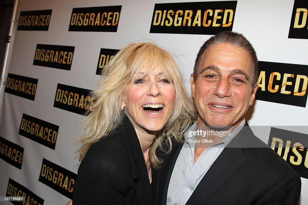 Judith Light and Tony Danza pose at the opening night of 'Disgraced' on Broadway at The Lyceum Theatre on October 23 2014 in New York City