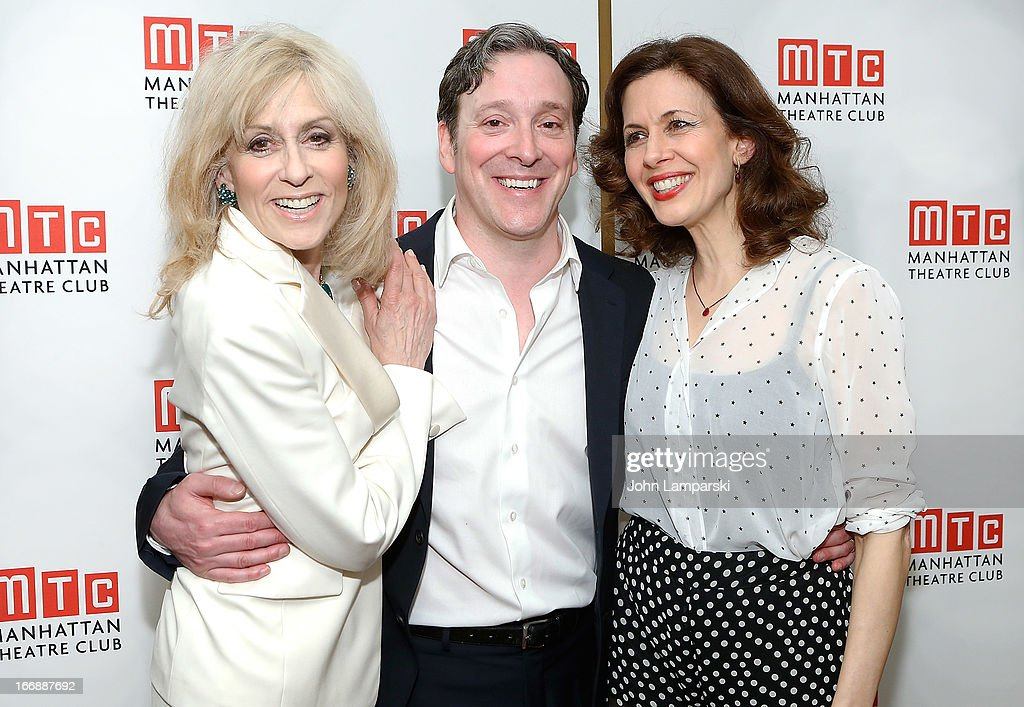 Judith Light, Jeremy Shamos, and Jessica Hecht attend 'The Assembled Parties' Broadway Opening Night after party at the Copacabana on April 17, 2013 in New York City.