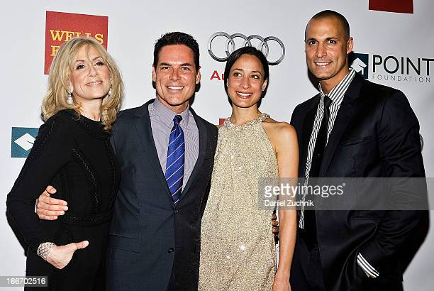 Judith Light Jorge Valencia Cristen Barker and Nigel Barker attend the 2013 Point Honors Gala at Pier Sixty at Chelsea Piers on April 15 2013 in New...
