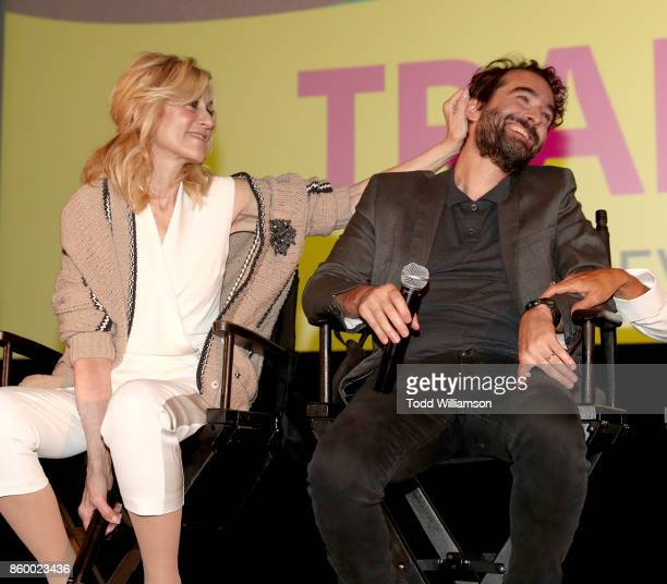 Judith Light plays with Jay Duplass at an Amazon Prime Exclusive Series Transparent Season 4 SAG Screening on October 10 2017 in Los Angeles...