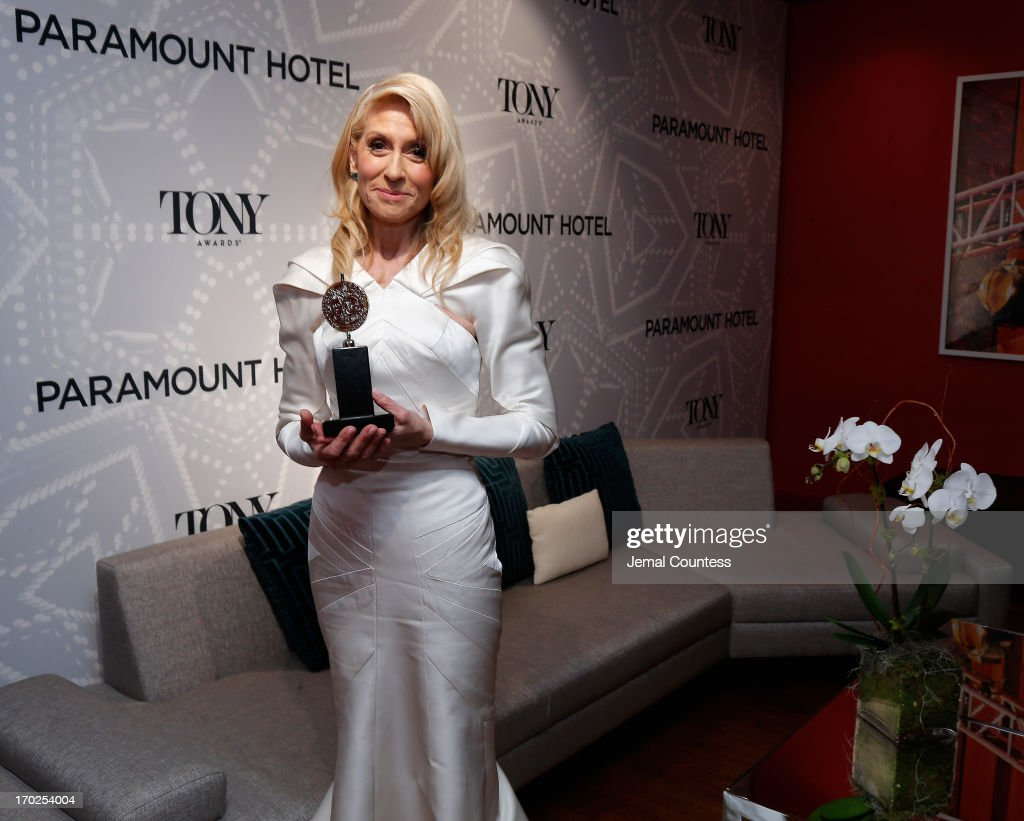 <a gi-track='captionPersonalityLinkClicked' href=/galleries/search?phrase=Judith+Light&family=editorial&specificpeople=214207 ng-click='$event.stopPropagation()'>Judith Light</a> poses with the award for Best Performance by a Featured Actress in 'The Assembled Parties' at The 67th Annual Tony Awards Paramount Winners' Room at Radio City Music Hall on June 9, 2013 in New York City.
