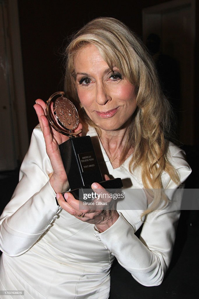 <a gi-track='captionPersonalityLinkClicked' href=/galleries/search?phrase=Judith+Light&family=editorial&specificpeople=214207 ng-click='$event.stopPropagation()'>Judith Light</a>, winner of Best Performance by a Featured Actress in a Play for her role in 'The Assembled Parties' poses in the press room during the 67th Annual Tony Awards at the on June 9, 2013 in New York City.