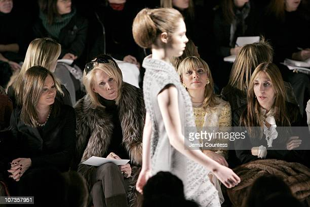 Judith Nathan and Kim Cattrall during MercedesBenz Fashion Week Fall 2007 Carolina Herrera Front Row and Backstage at The Tent Bryant Park in New...