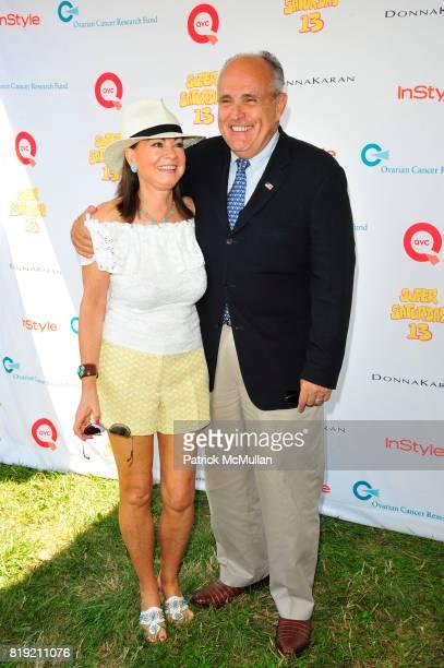 Judith Nathan and Rudy Giuliani attend Donna Karan Ariel Foxman InStyle Along With Kelly Ripa Ashley Greene Present Super Saturday 13 at Nova's Ark...