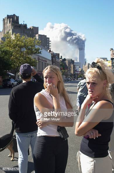 Judith PuckettRinella and Janie Payne stand in disbelief during the terrorist attack on the World Trade Center on Sept 11 2001