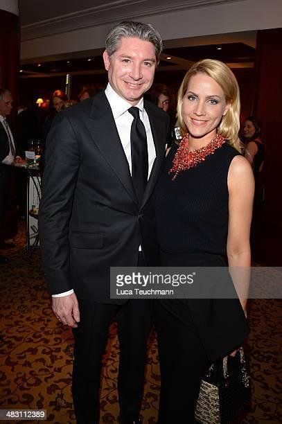 Judith Rakers and Andreas Pfaff attend Felix Burda Award 2014 at Hotel Adlon on April 6 2014 in Berlin Germany