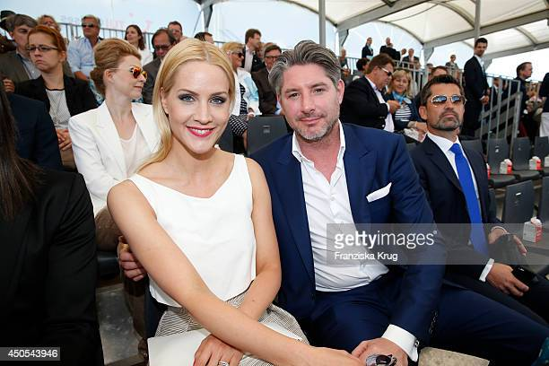 Judith Rakers and Andreas Pfaff attend the christening of the ship 'Mein Schiff 3' on June 12 2014 in Hamburg Germany