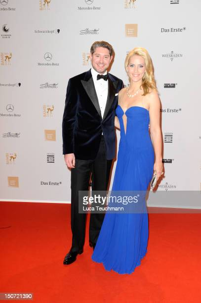 Judith Rakers and Andreas Pfaff attend the Red Carpet for the Bambi Award 2011 ceremony at the RheinMainHallen on November 10 2011 in Wiesbaden...