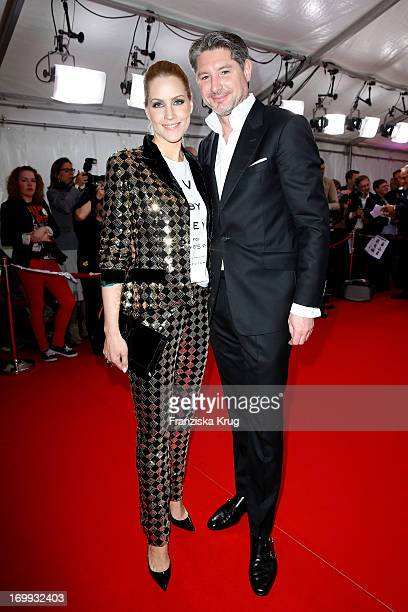 Judith Rakers and Andreas Pfaff attend the Studio Hamburg Nachwuchspreis 2013 at Thalia Theater on June 4 2013 in Hamburg Germany