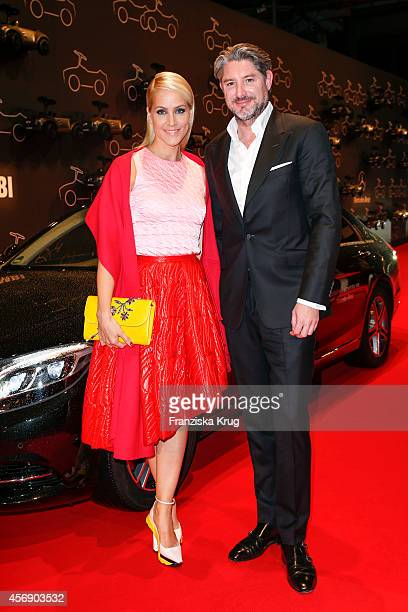 Judith Rakers and Andreas Pfaff attend the Tribute To Bambi 2014 on September 25 2014 in Berlin Germany