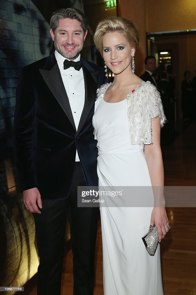 Judith Rakers and her husband Andreas Pfaff attend the 2012 Bundespresseball (Federal Press Ball) at the Intercontinental Hotel on November 23, 2012 in Berlin, Germany.