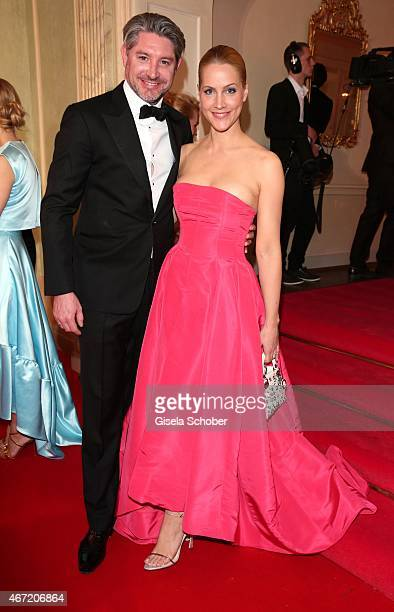 Judith Rakers and her husband Andreas Pfaff during the Gala Spa Awards 2015 at Brenners ParkHotel Spa on March 21 2015 in BadenBaden Germany