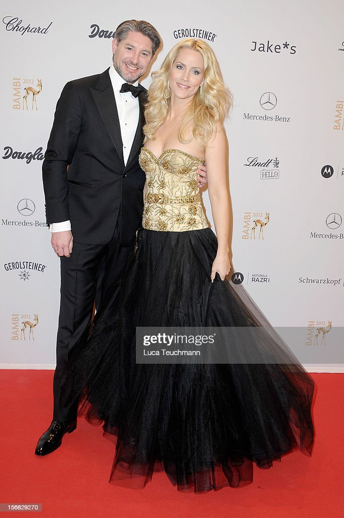 Judith Rakers and husband Hermann Rakers attend 'BAMBI Awards 2012' at the Stadthalle Duesseldorf on November 22, 2012 in Duesseldorf, Germany.