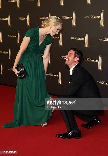 Judith Rakers and Marco Schreyl arrive for the German TV Award 2012 at Coloneum on October 2 2012 in Cologne Germany