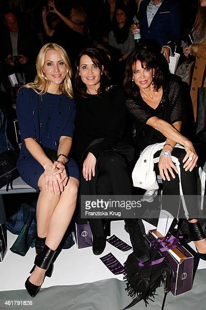 Judith Rakers Anja Kling and Gerit Kling attend the Laurel show during the MercedesBenz Fashion Week Berlin Autumn/Winter 2015/16 at Brandenburg Gate...