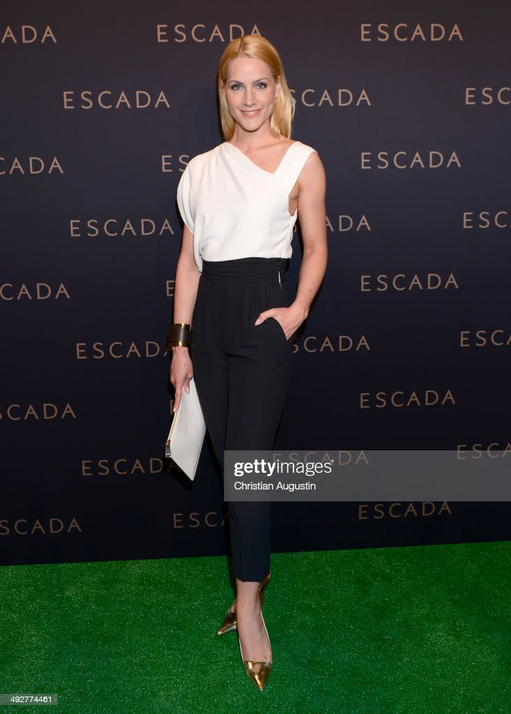 Judith Rakers attends Escada Flagshipstore Opening at Kaisergalerie on May 21 2014 in Hamburg Germany