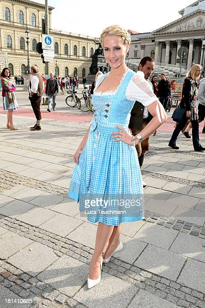 Judith Rakers attends Fruehstueck Bei Tiffany at Tiffany Store on September 21 2013 in Munich Germany
