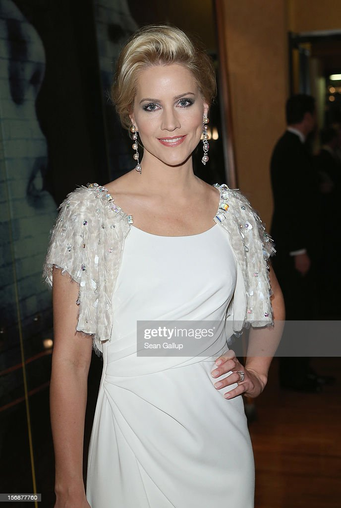 Judith Rakers attends the 2012 Bundespresseball (Federal Press Ball) at the Intercontinental Hotel on November 23, 2012 in Berlin, Germany.