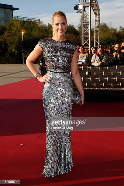 Judith Rakers attends the Deutscher Fernsehpreis 2013 Red Carpet Arrivals at Coloneum on October 02 2013 in Cologne Germany