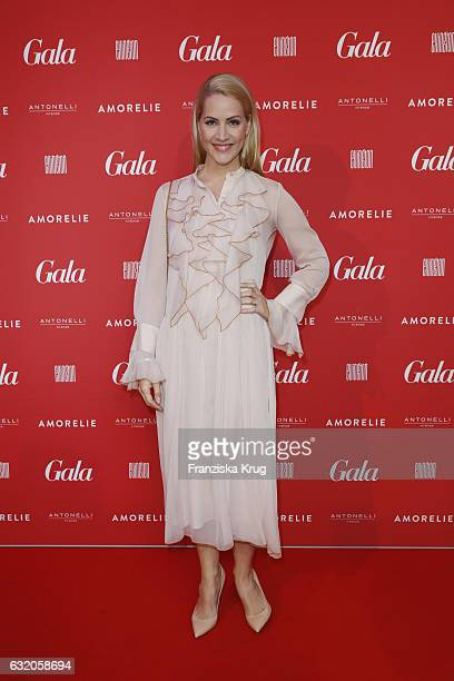 Judith Rakers attends the 'Gala' fashion brunch during the MercedesBenz Fashion Week Berlin A/W 2017 at Ellington Hotel on January 19 2017 in Berlin...