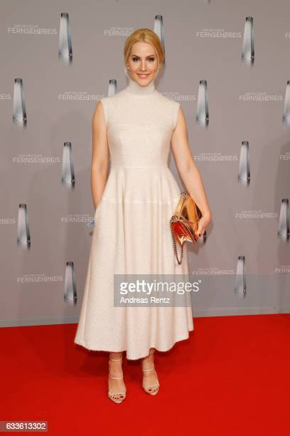 Judith Rakers attends the German Television Award at Rheinterrasse on February 2 2017 in Duesseldorf Germany
