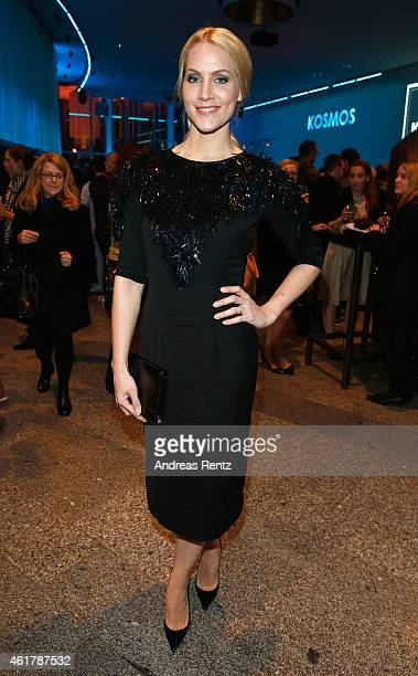 Judith Rakers attends the Kilian Kerner show during the MercedesBenz Fashion Week Berlin Autumn/Winter 2015/16 at Kosmos on January 19 2015 in Berlin...