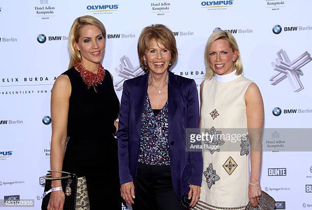 Judith Rakers Christa Maar and Tamara Grafin von Nayhauss attend the Felix Burda Award 2014 at Hotel Adlon on April 6 2014 in Berlin Germany