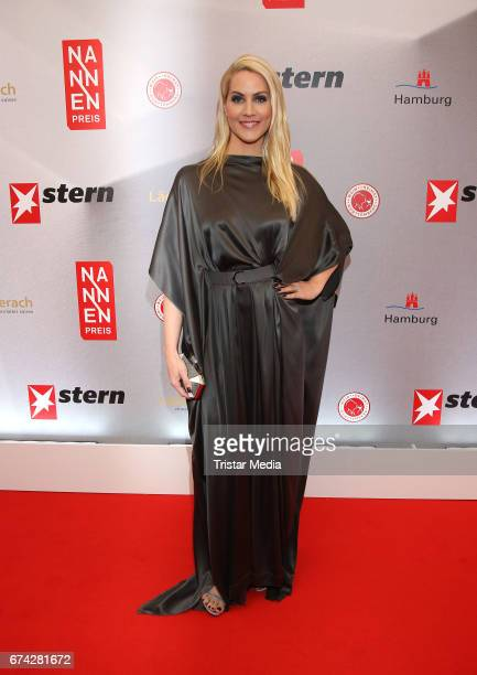 Judith Rakers during the Henri Nannen Award red carpet arrivals on April 27 2017 in Hamburg Germany