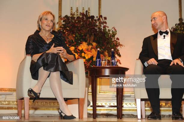 Judith Rodin and Jeff Bezos attend The Aspen Institute 26th Annual Awards Dinner at The Plaza Hotel on November 5 2009 in New York City