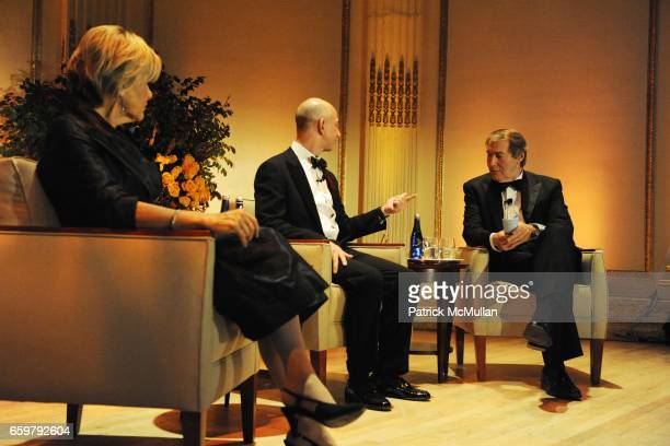 Judith Rodin Jeff Bezos and Charlie Rose attend The Aspen Institute 26th Annual Awards Dinner at The Plaza Hotel on November 5 2009 in New York City