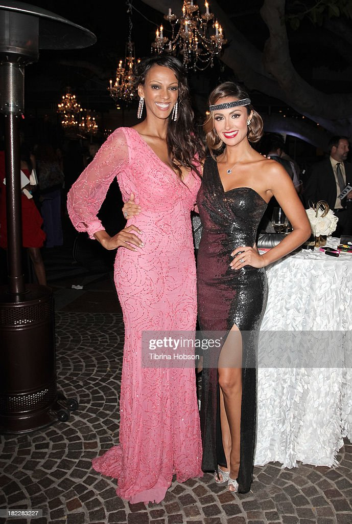 Judith Shekoni and Katie Cleary attend the 4th annual Face Forward LA Gala at Fairmont Miramar Hotel on September 28, 2013 in Santa Monica, California.