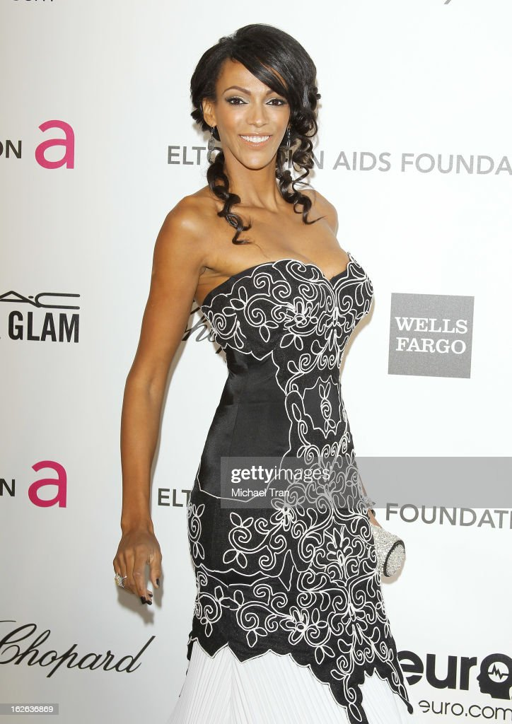 Judith Shekoni arrives at the 21st Annual Elton John AIDS Foundation Academy Awards viewing party held at West Hollywood Park on February 24, 2013 in West Hollywood, California.