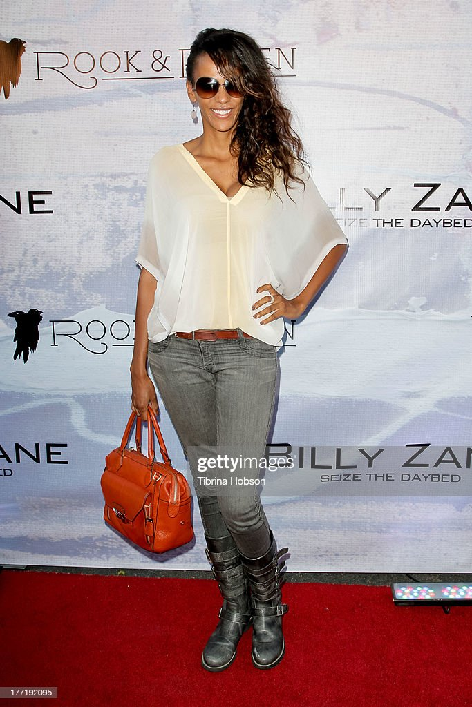 Judith Shekoni attends the artist's reception for Billy Zane's solo art exhibition 'Seize The Day Bed' on August 21, 2013 in Los Angeles, California.