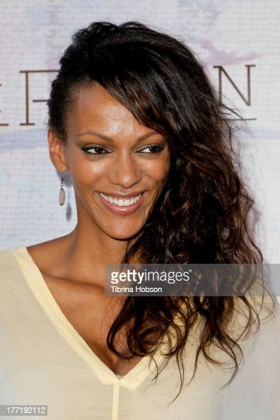 Judith Shekoni attends the artist's reception for Billy Zane's solo art exhibition 'Seize The Day Bed' on August 21 2013 in Los Angeles California