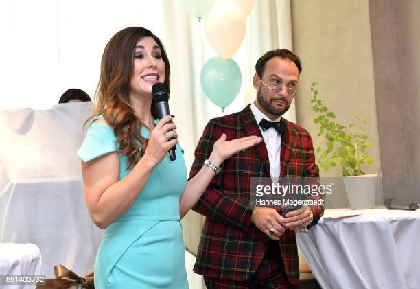 Judith Williams and AlexanderKlaus Stecher attend the presentation of Judith Williams new cosmetics line EGF Tech Science for DM during the 'Medien...