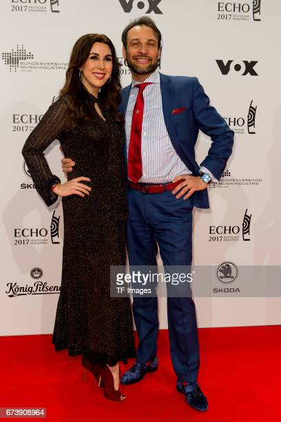 Judith Williams and Ehemann AlexanderKlaus Stecher on the red carpet during the ECHO German Music Award in Berlin Germany on April 06 2017