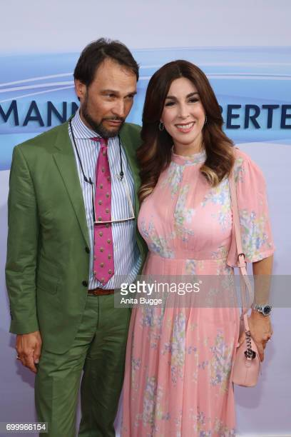 Judith Williams and her husband Alexander Klaus Stecher attend the Bertelsmann Summer Party at Bertelsmann Repraesentanz on June 22 2017 in Berlin...