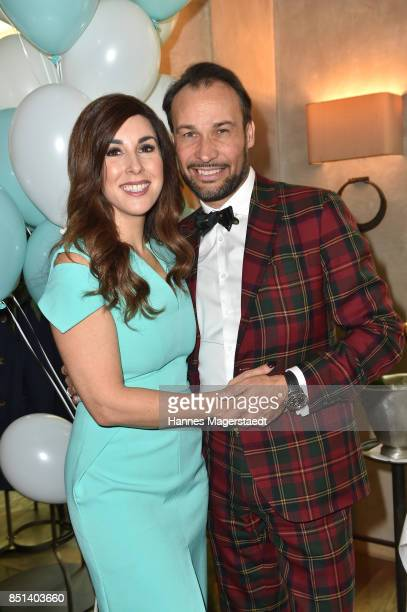 Judith Williams and her husband AlexanderKlaus Stecher attend the presentation of Judith Williams new cosmetics line EGF Tech Science for DM during...