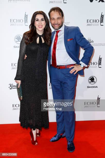 Judith Williams and her husband AlexanderKlaus Stecher attend the Echo award red carpet on April 6 2017 in Berlin Germany