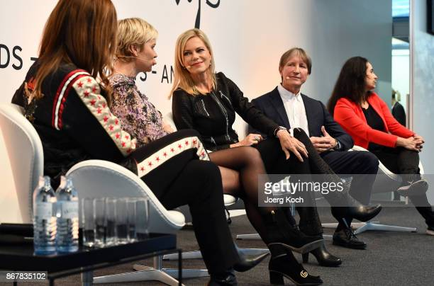 Judith Williams Dr Barbara Sturm host Nina Ruge Dr Stefan Duve and Dr Yael Adler attend the Bunte Beauty Days at Messe Muenchen on October 29 2017 in...