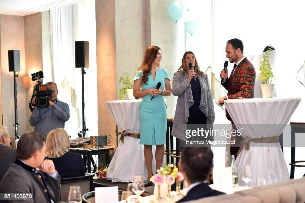 Judith Williams Susanne Bothfeld and AlexanderKlaus Stecher attend the presentation of Judith Williams new cosmetics line EGF Tech Science for DM...